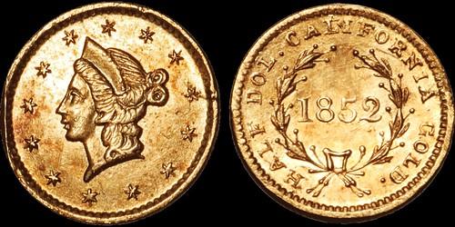 1852 Joseph Bros. Half dollar
