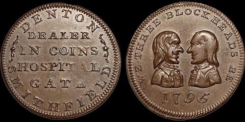 1795 Denton Dealer in Coins Token