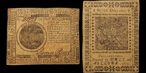 Continental Currency. $7. Issue of May 10, 1775