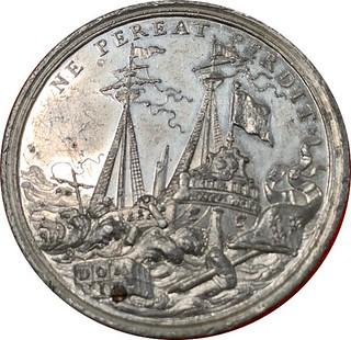 Queen Anne siege of Tournai medal obverse