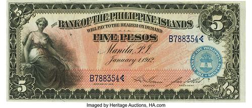 Philippines Bank of the Philippine Islands 5 Pesos