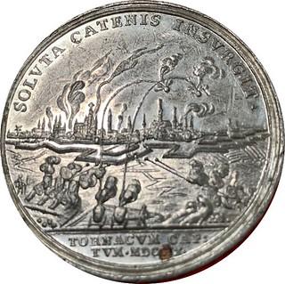 Queen Anne siege of Tournai medal reverse