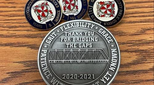 Loudoun County Schools COVID-19 challenge coin