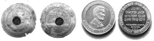 Cracker Jack Mystery Club tokens