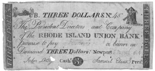 Rhode Island Union Bank $3