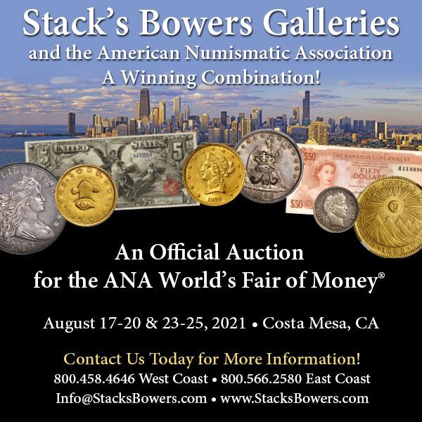 Stacks-Bowers E-Sylum ad 2021-06-27 ANA Sale