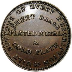 1837 Scovill Hard Times Token reverse