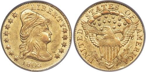 1802 over 1 Quarter Eagle Ex-Eliasberg