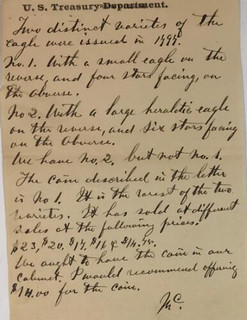 Mint Letter Regarding 1797 Eagle