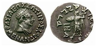 King Menander I  Drachm