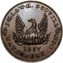 1837 Scovill Hard Times Token obverse