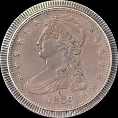 1838-O Half Dollar circulation strike obverse