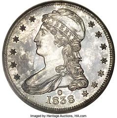 1838-O proof Half Dollar obverse Atwater specimen