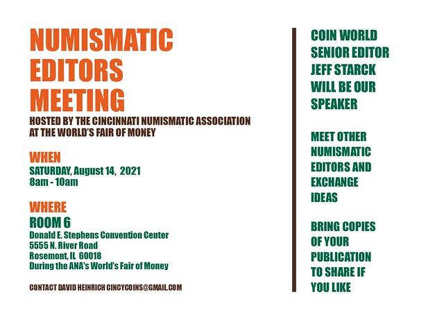 2021 ANA Numismatic Editors Meeting