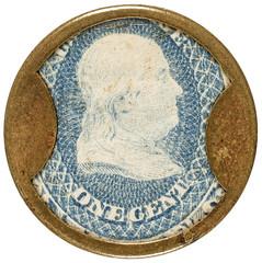 One Cent F. Buhl Encased Postage Stamp obverse