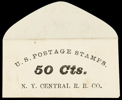 New York Central Railroad Postage Stamp Envelope