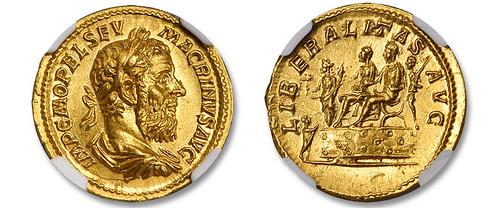 Aureus of Macrinus