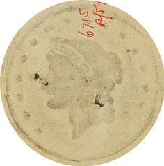 Pencil Rubbing of Gaming Counter Obverse