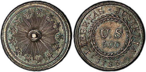 1783 plain obverse quint Nova Constellatio pattern