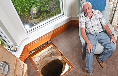 room with well where coin was found