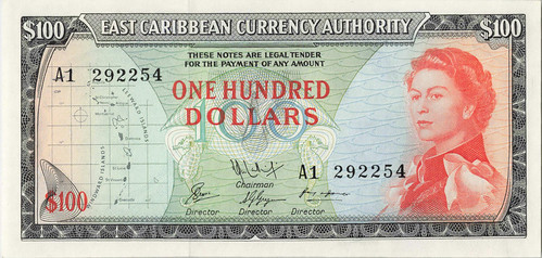 1965  East Caribbean Currency Authority $100
