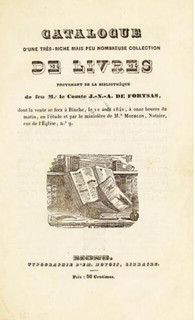 1840 Fortsas auction catalog cover