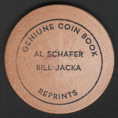 Genuine Coin Book Reprints wooden nickel face