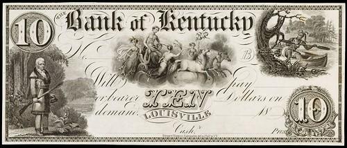 Bank of Kentucky $10 note
