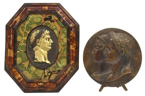 Bronze Plaques of Napoleon and Claudius