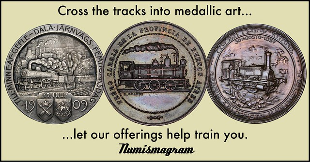 E-Sylum Numismagram ad45 Cross the Tracks