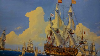 The-Embarcation-of-the-1715-Fleet-Painting-by-James-Flood