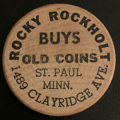 Rocky Rockholt wooden nickel
