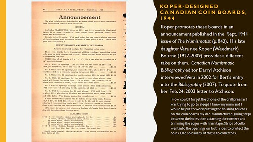 Bert Koper Canadian Coin Boards