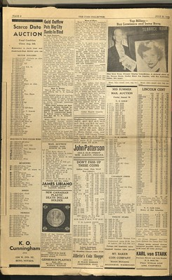 The Coin Collector July 20, 1958 p1