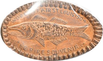 1904 World Fair Pike elongated cent