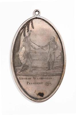 1792 George Washington Indian Peace Medal obverse