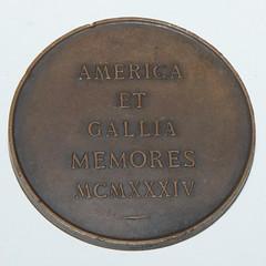 1934 Paris Mint Lafayette Medal reverse
