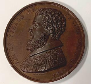 Andreas Vesalius medal obverse