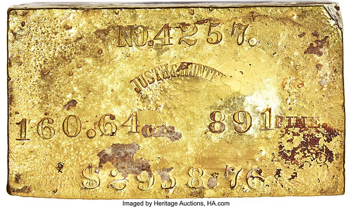 Justh & Hunter Gold Ingot. 160.64 Ounces_Heritage_Auctions