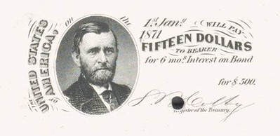 1864 Consolidated Five-Twenty Coupon Bond $15