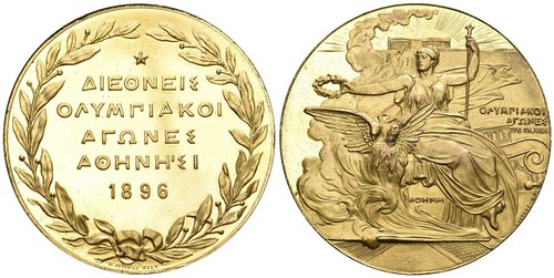 1896 Olympic medal gold-plated bronze