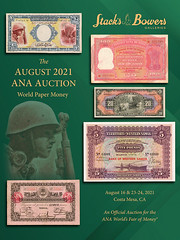 Stacks Bowers 2021 ANA Paper MOney sale catalog cover