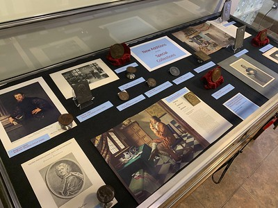 Medical and Scientific Medals at Falk Library exhibit