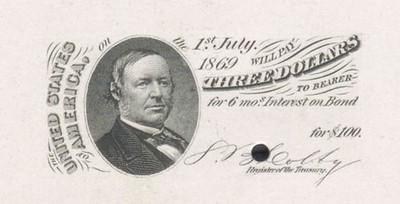 1864 Consolidated Five-Twenty Coupon Bond $100, $500, $1000 values