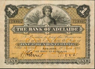 Australia Bank of Adelaide One Pound