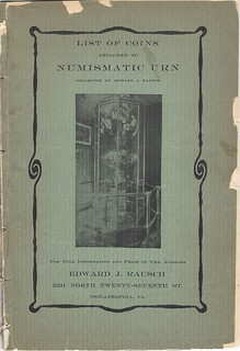 Numismatic Urn pamphlet cover