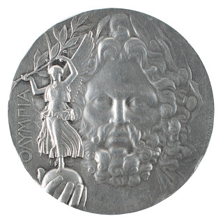 1896 Olympics Silver medal obverse