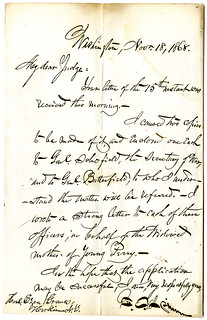 Archives sale 69 Lot 496 Francis E Spinner Letter from 1868