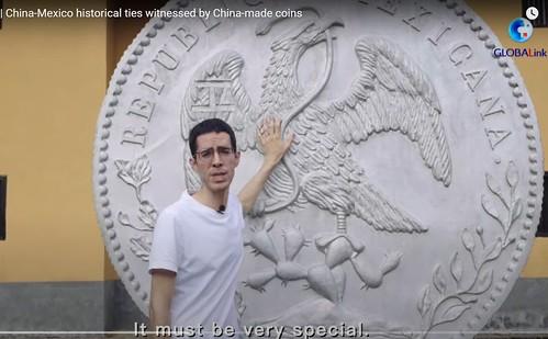 Jinggangshan Sino-Mexican Coin sculpture