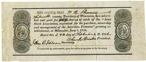 Archives sale 69 Lot 522 American Freeman Slavery Abolition Newspaper